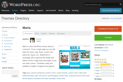 WordPress › Marla « Free WordPress Themes
